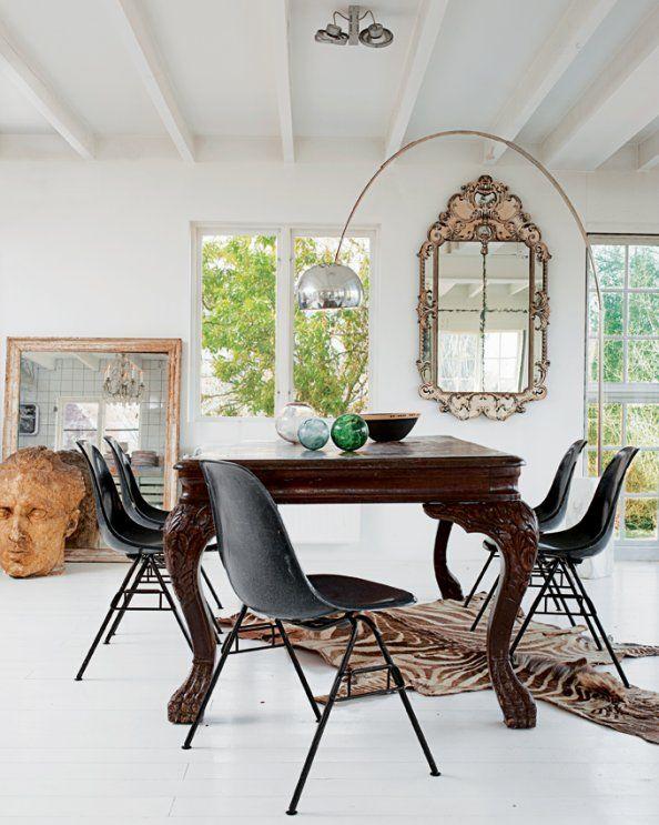 Une salle à manger où design et vintage se côtoient #salleamanger
