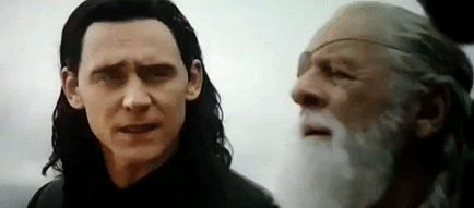 This scene killed me. The pain in Loki's eyes when Odin calls him his son and when he says this isn't his doing.