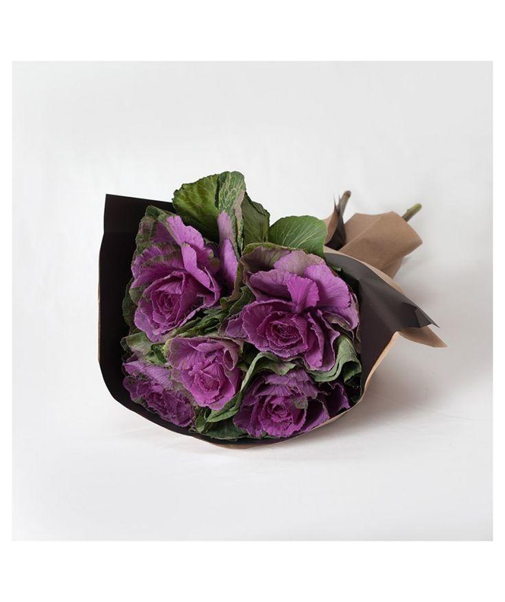 Custom Style Wrap: perfume/garden/long stem/short stem/unusual/specimen - Subscription Wraps - Ornamental Kale