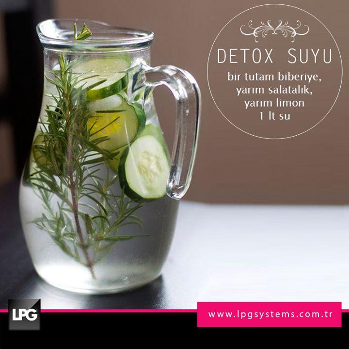 Metabolizma hızlandıran detox suyu ile ferahlamaya ne dersin?  #lpg #endermologie #detox #cuma #haftasonu #weekend