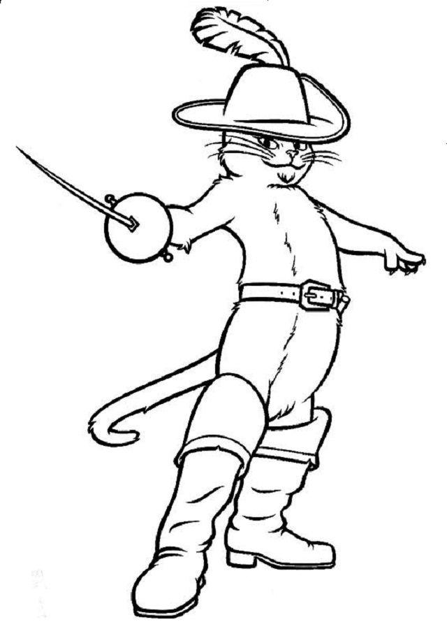 Dibujos Para Colorear El Gato Con Botas Com Imagens O Gato