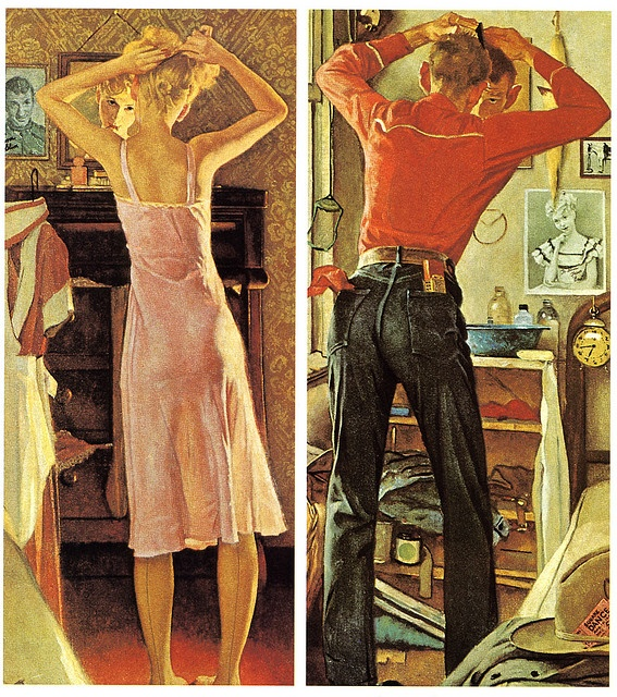 The thing I absolutely love about Rockwell, is that his pictures tell stories. They always have a reason for being.