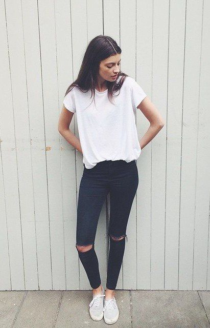 Best 25  Black Jeans Outfit ideas on Pinterest | Casual travel ...