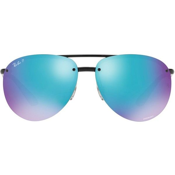 Ray-Ban Polarised Mirror Aviator Sunglasses (710 PEN) ❤ liked on Polyvore featuring accessories, eyewear, sunglasses, oval glasses, mirror sunglasses, heart sunglasses, mirrored sunglasses and mirrored aviator sunglasses