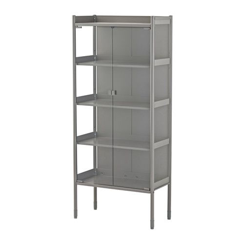 IKEA - HINDÖ, Greenhouse/cabinet, indoor/outdoor, You can adjust the height of the shelves to suit your needs.The greenhouse/storage cabinet is durable, easy to clean made of powder-coated steel.