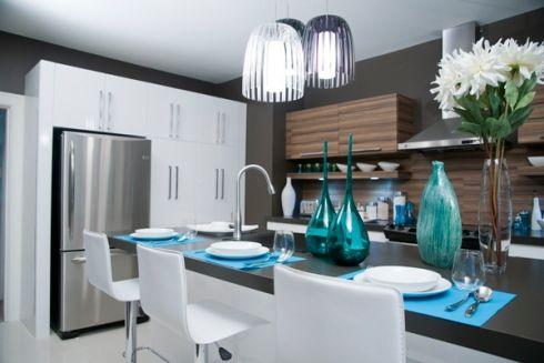 Mobilier cuisine design - Cuisine rouge et noir de style design