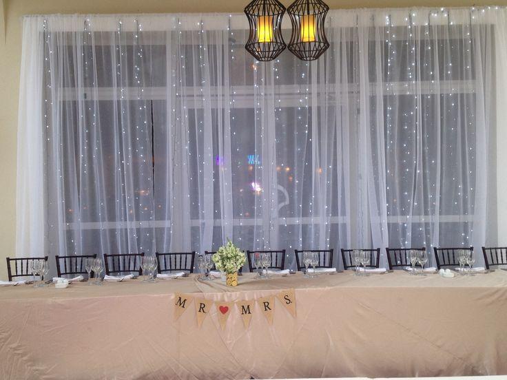 #Destinationwedding #NowLarimarPuntaCana #bridalpartytable #CarnivalTerrace #lighed courtain