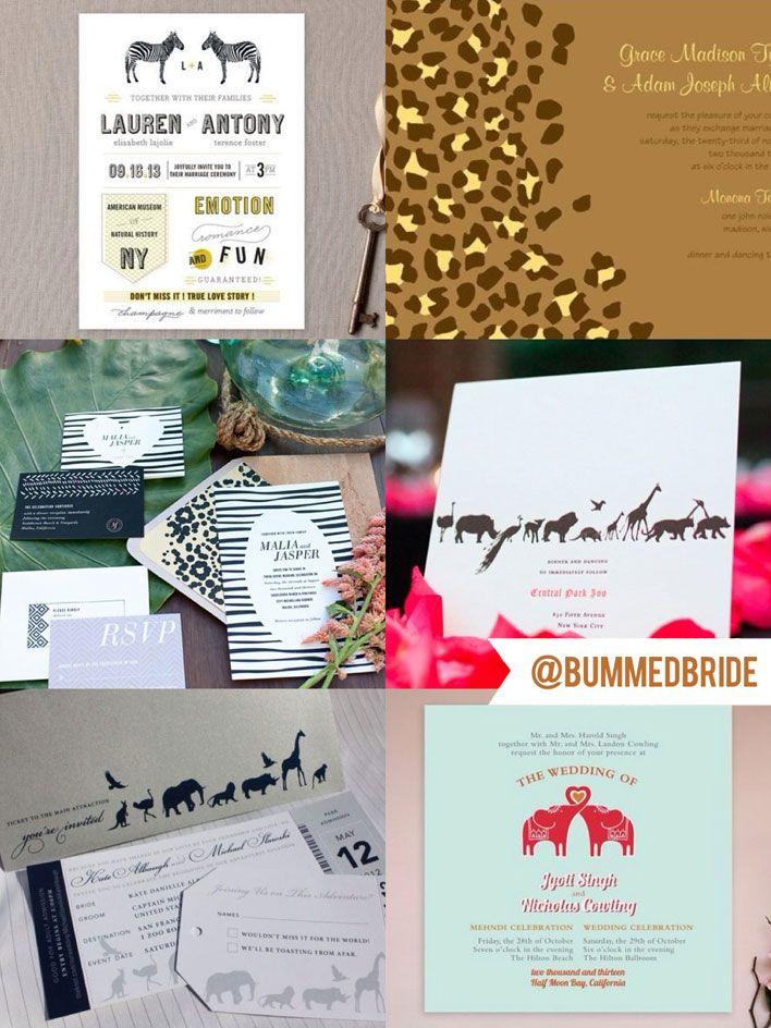 Perfect Picks for SafariZoo Wedding Invitations Weddings