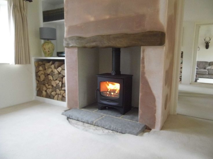 Charnwood C-Five in a renovated cottage fireplace. Lewknor, Oxfordshire.