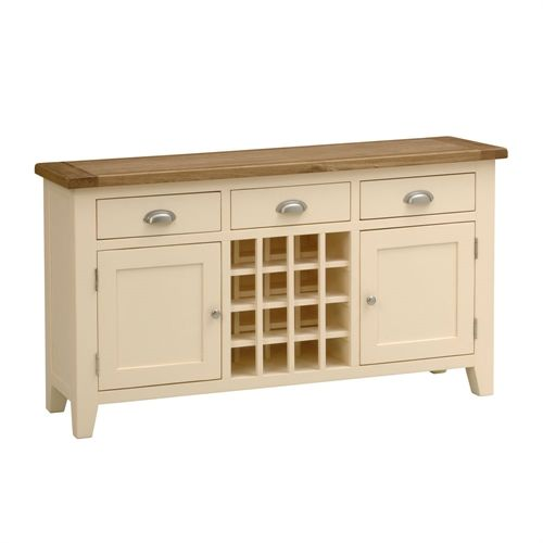 Cheltenham Cream Painted Sideboard And Wine Rack Great For A Free Standing Kitchen