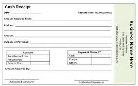 cash receipt templates, sample cash receipt