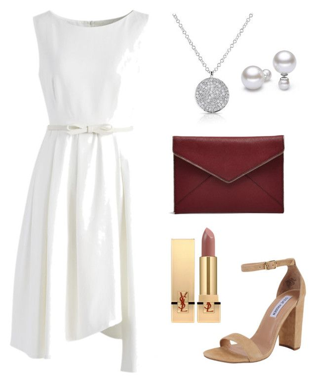 """""""wedding"""" by luziagalvang on Polyvore featuring moda, Chicwish, Rebecca Minkoff, Anne Sisteron, Steve Madden y Yves Saint Laurent"""