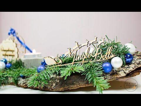 Stroik na świąteczny stół DIY. Dekoracja świąteczna. Jak zrobić świątecz...