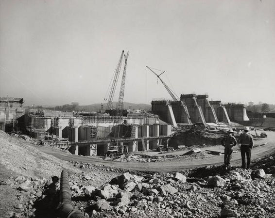Construction of the Logan Martin Dam in the early 1960's ...