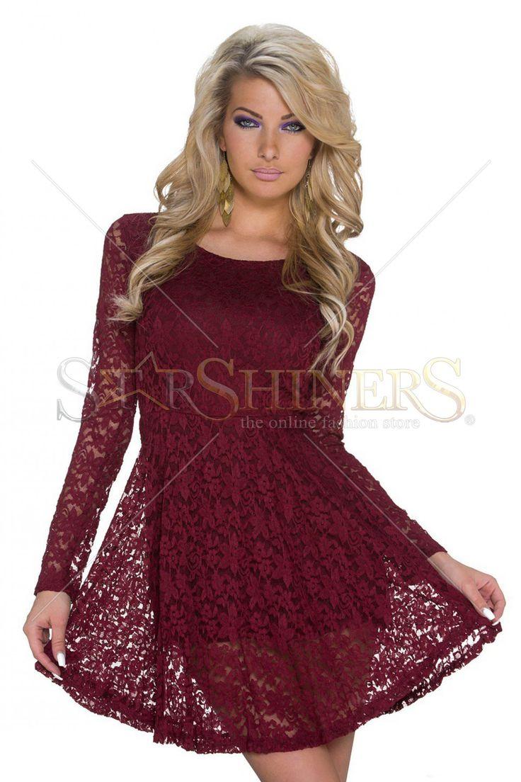 Vibrating Offer Burgundy Dress