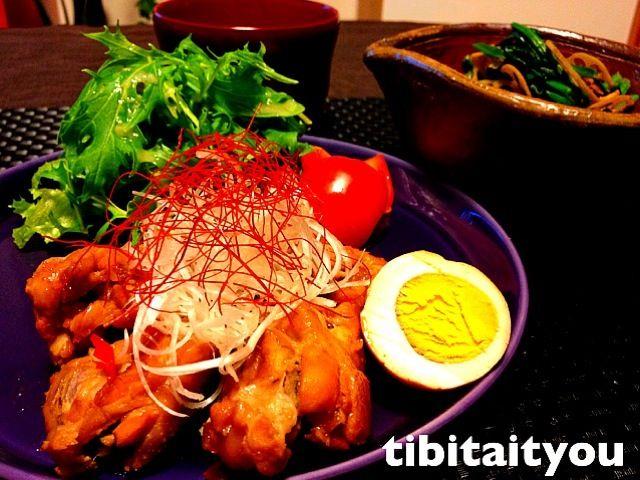 鶏手羽元のパイナップルジュース煮・mikisawaさんのほうれん草と蓮根のカレー炒め by ちび隊長 at 2012-12-11[スナップディッシュ] 写真で簡単に見つかるみんなの料理・レシピが300万皿