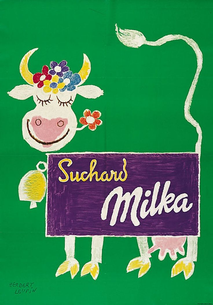 Herbe Leupin, graphiste suisse Vache Milka