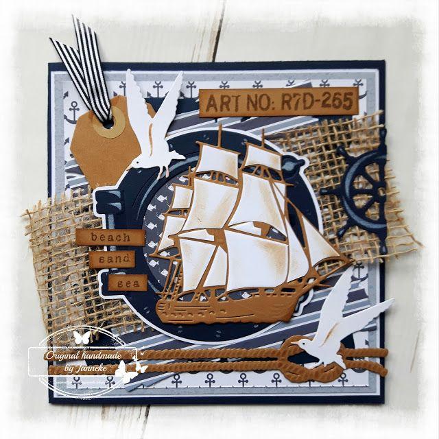 Original handmade by Janneke: Mannenkaart en afscheid