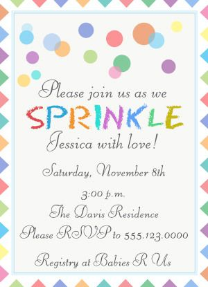 best 25+ sprinkle invitations ideas on pinterest | baby sprinkle, Baby shower invitations
