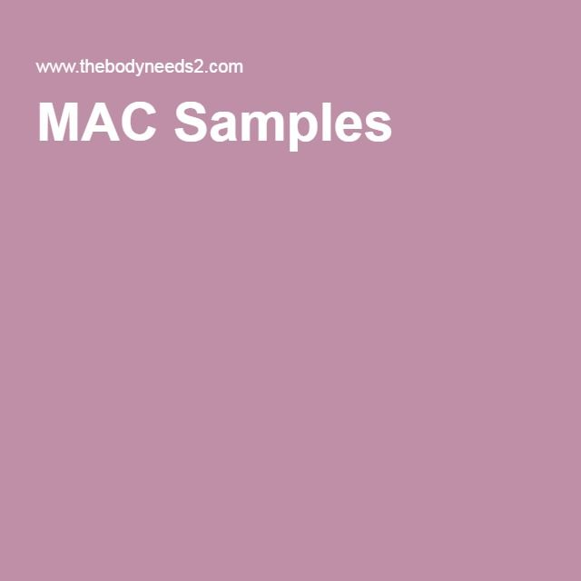 MAC Samples