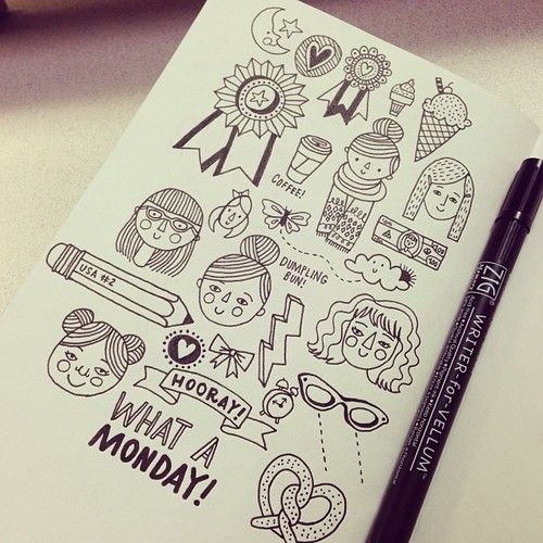 Doodles by Kristin Nohe.