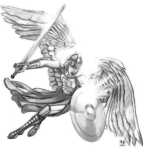 Angel Thunder Drawing