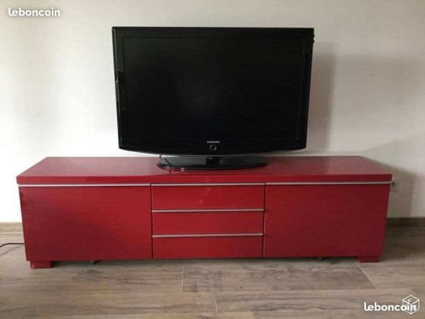 meuble tv ikea besta burs rouge laqu brillant uac with meuble tv gris laqu ikea - Meuble Tv Ikea Laque Rouge