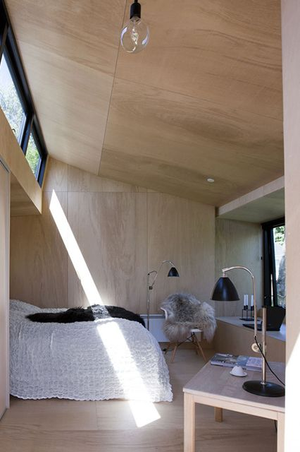 wood-paneled interior that glows with warmth.