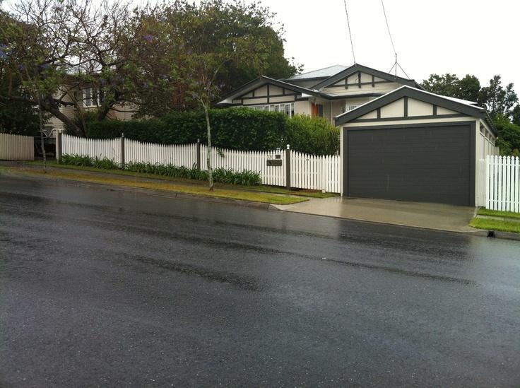 Carport garage fence example reno ideas pinterest for Carport fence ideas