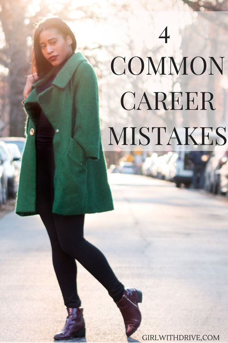 These are four career mistakes #youngprofessionals make. From posting their business card online to following another person's career path, these mistakes can really hurt your #career.