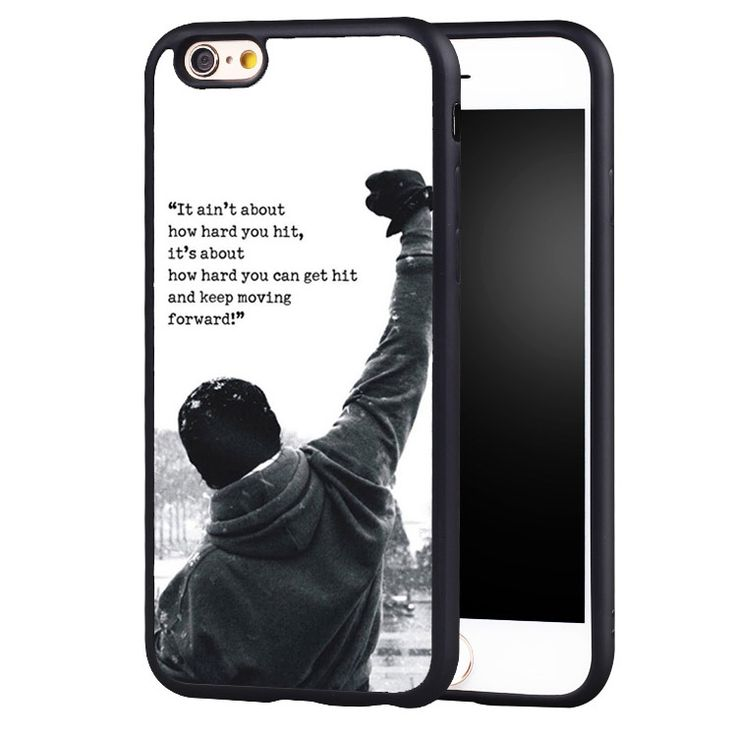 Rocky Balboa Movie Quote Motivation Boxing Soft TPU Mobile Phone Cases For iPhone 6 6S Plus SE 5 5S 5C 4 4S Back Shell Cover