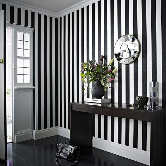 Glitterati Black and White Wallpaper by Graham & Brown