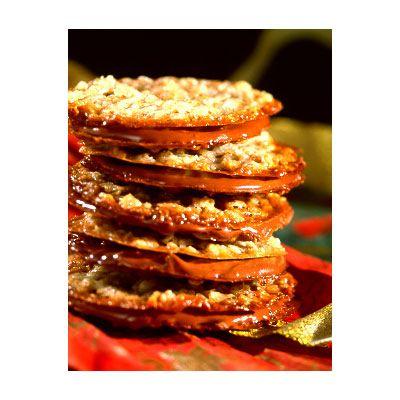 Milk Chocolate Florentine Cookies (Intermediate; 42 sandwich cookies)