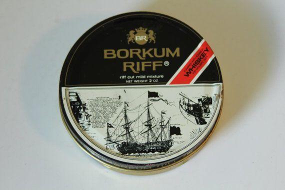 Vintage Tin Borkum Riff Whiskey Flavored by foundundertheeaves, $8.00