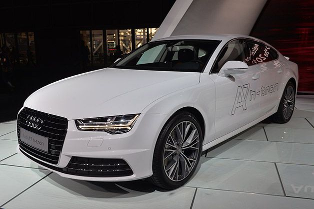 A new plug-in hydrogen concept, the Audi A7 Sportback H-Tron Quattro, is a surprise debut in LA 2014.