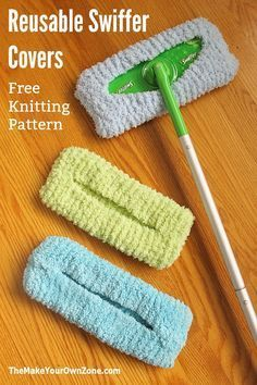 Free knitting pattern for a reusable knit Swiffer cover. Save money and make your own homemade knit Swiffer cover.
