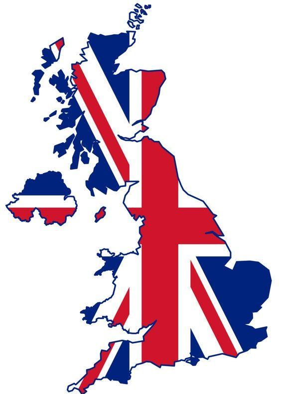 2 Pieces United Kingdom Outline Map Flag Vinyl Decals Stickers Etsy United Kingdom Flag Uk Flag England Map