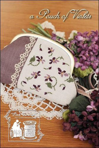 Pink Caramel: a Frame Pouch of Violets