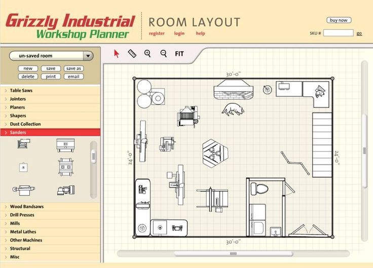 Free woodshop layout plans woodworking projects plans for Woodshop layout software