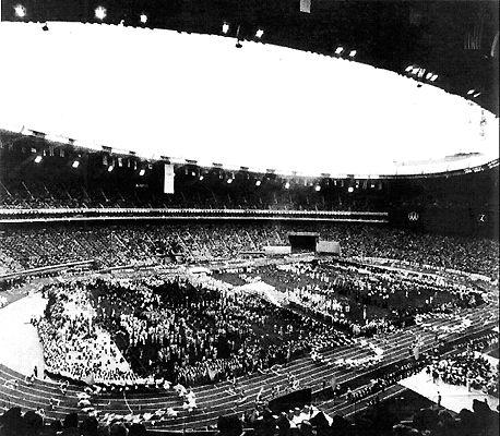 L'ouverture des Jeux olympiques d'été à Montréal