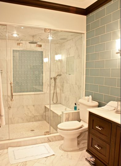 201 best shower enclosures images on pinterest bathroom for Classic master bathrooms