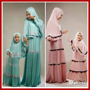 Baju Muslim Ibu Dan Anak Modis Syari KP01