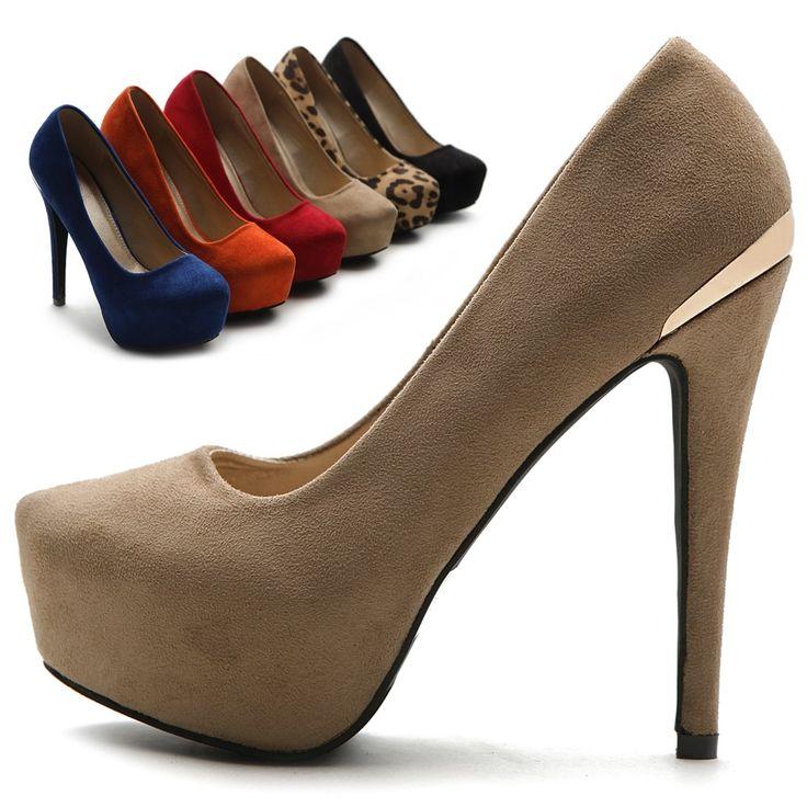 76.00$  Buy here - http://ali7ly.worldwells.pw/go.php?t=32509839425 - Khaki Round Toe Women Pumps Platform Shoes Stiletto Heel 12cm Thin High Heels Ladies Shoes 2016 Handmade Zapatos Mujer US14