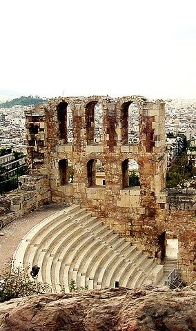 Odeon of Herodes Atticus, Athens, Greece  So Cool...this is amazing.  #kevco #kevcobz #kevcotravel