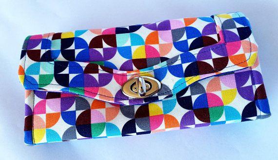 Multi-coloured rainbow Necessary Clutch Wallet by Emmaline