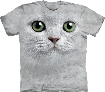 Green Eyes Cat Big Face T-Shirt - yourgifthouse