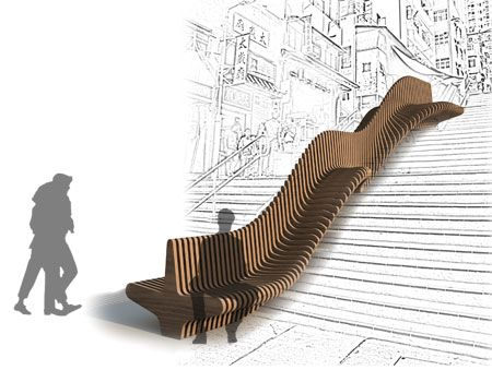 Urban Adapter / Rocker-Lange Architects - Great solution for long stairs