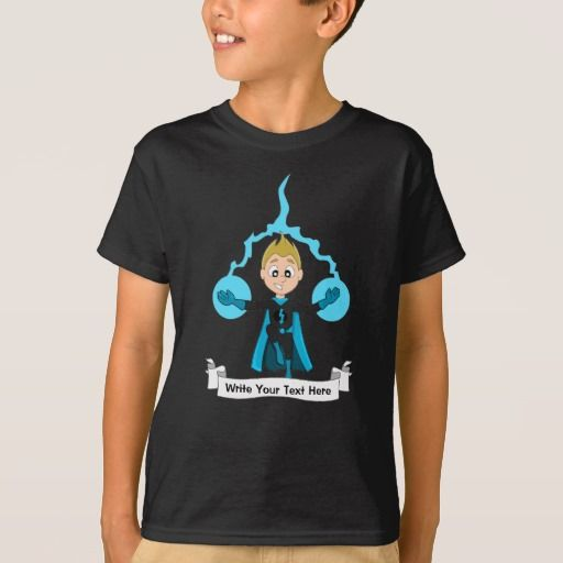 Custom flying superhero boy cartoon T-Shirt