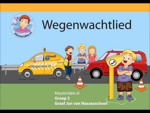 Liedje over de Wegenwacht, kleuteridee, thema pech onderweg - YouTube