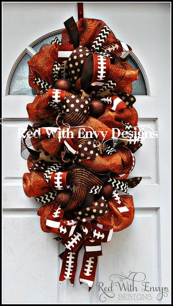 Fall Football Door Swag by Red with Envy Designs